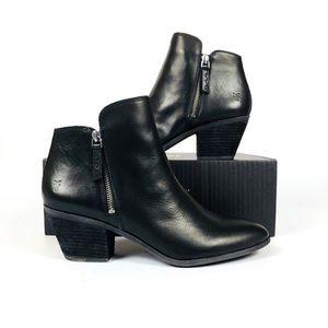 FRYE Ankle Zip Women's Booties Black Leather
